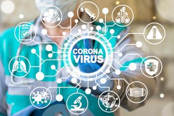 Corona Virus Healthcare Concept. Coronavirus 2019-nCoV Pandemic Sars Fever.