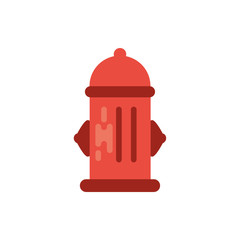 Isolated fire hydrant vector design