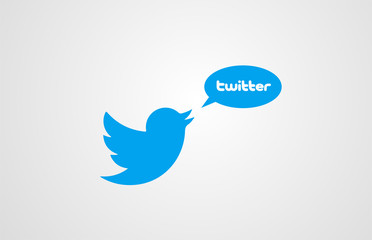 blue bird twitter corporate business logo icon design for company