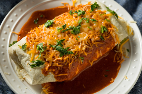Homemade Spicy Smothered Beef Burrito