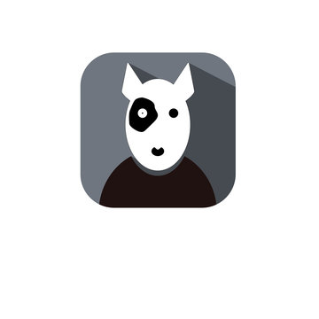 Flat vector pit bull icon symbol sign from modern animals collection for mobile concept and web application design.