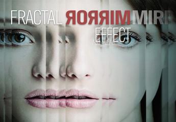 Fractal Mirror Overlay Effect Mockup