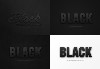 Black Text Effect Mockup