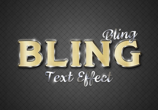 Silver and Gold Text Effect Mockup