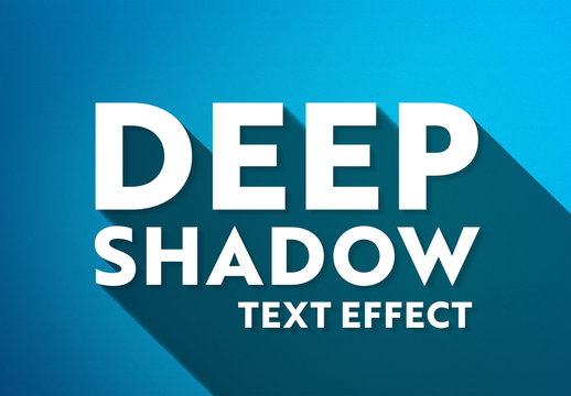 Long Shadow Text Effect Mockup