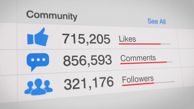 popular social media statistics illustration