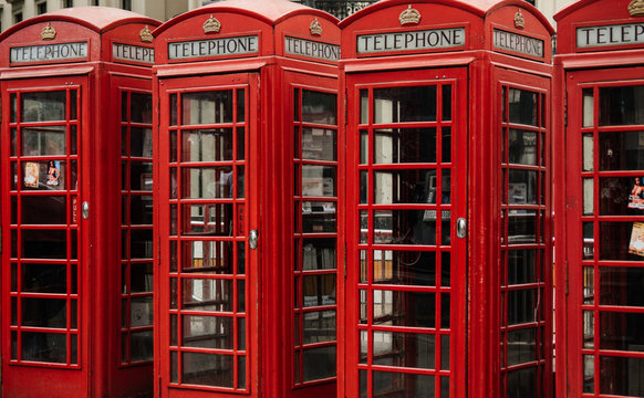 Full Frame Shot Of Telephone Booths