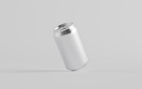 12 oz. / 350ml Aluminium Can Mockup - One Can.  3D Illustration