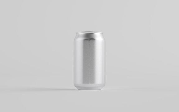12 oz. / 350ml Aluminium Can Mockup - One Can.  3D Illustration
