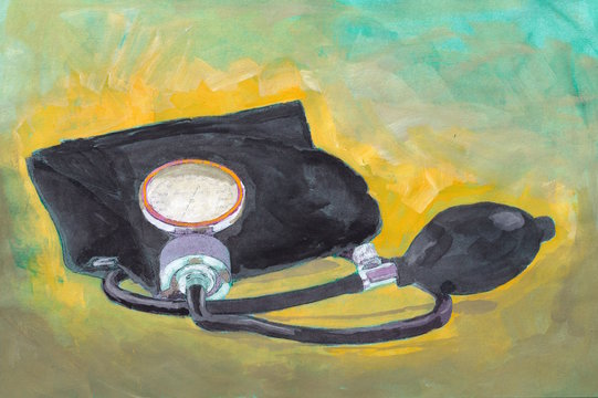 Blood Pressure Cuff Illustration