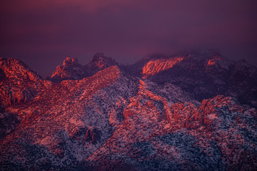 Printed kitchen splashbacks Eggplant Sunset on Mt. Lemmon in Tucson Arizona