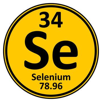 Periodic table element selenium icon.