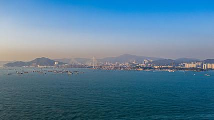 Fotomurales - Aerial view of Hong Kong at daytime