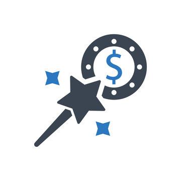 Magic money icon