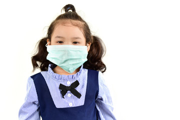 Baby with Hygienic mask for protection dust and disease