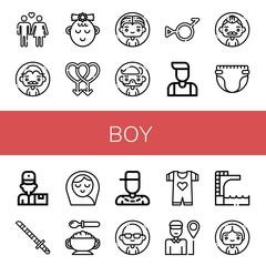 Set of boy icons