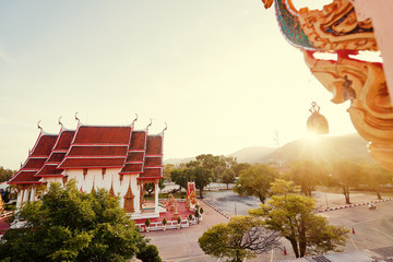 Fotobehang Bedehuis The Wat Chalong Buddhist temple in Chalong, Phuket, Thailand