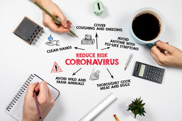 Reduce Risk Coronavirus. Symptoms, hygiene, cooking, wildlife and farm animals