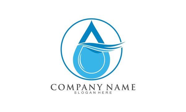 Water simple luxury vector logo