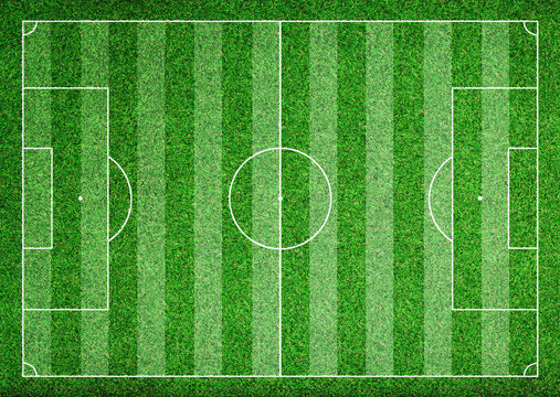 Soccer field from above - texture background