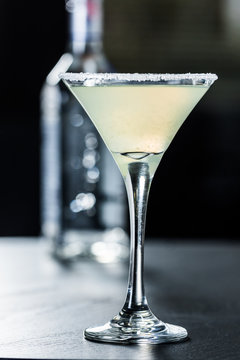 Close-Up Of Alcoholic Drink On Table