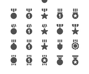 Awards v2 UI Pixel Perfect Well-crafted Vector Solid Icons 48x48 Ready for 24x24 Grid for Web Graphics and Apps. Simple Minimal Pictogram
