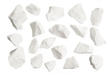 Obraz Rock stone broken explosion isolated on white background - fototapety do salonu