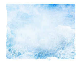 Sky isolated background. Watercolor