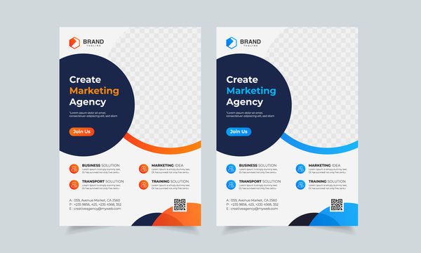 Business Flyer Corporate Flyer Template Geometric shape Flyer Circle Abstract Colorful concepts