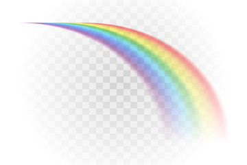 rainbow multicolor realistic vector illustration