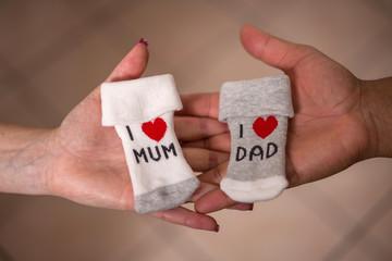 I love Mum - I love Dad - calzini bimbi