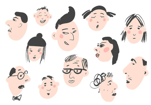 Icon Collection of Funny Faces