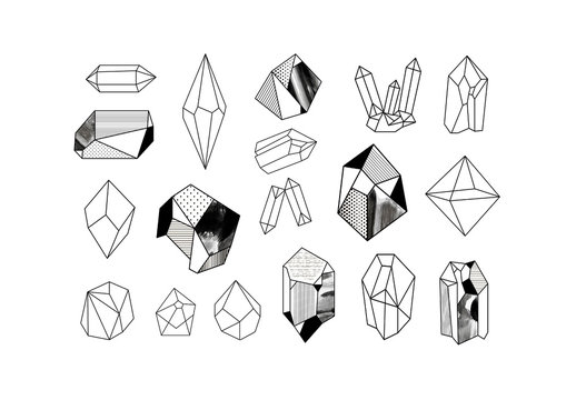 Icon Set of Crystals