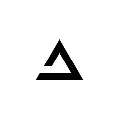 Abstract triangle shape logo on white background