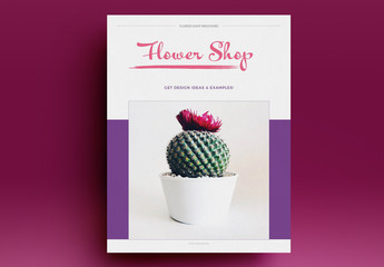 Flower Shop Brochure Layout