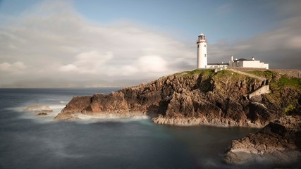 Fanad Lighthouse standing on the north coast of Ireland guiding nautical vessels to safety for the past 200 years.
