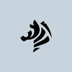 Logo with the head of a zebra