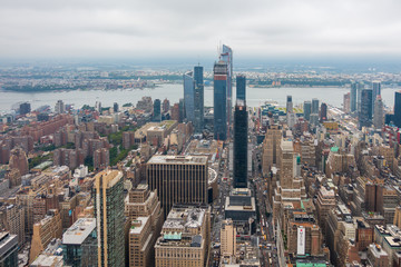 Aerial view of Manhattan skyscrapers