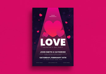 Valentine's Day Party Event Flyer Layout