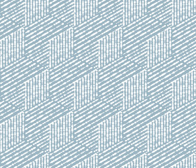 Fotorolgordijn Geometrisch Abstract geometric pattern with stripes, lines. Seamless vector background. White and blue ornament. Simple lattice graphic design