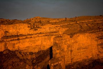 sunset in jebl sham oman gran canyon
