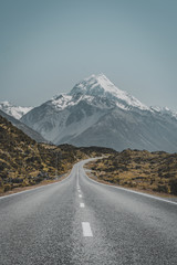 Mount Cook-Aoraki is one of biggest mountains at New Zealand
