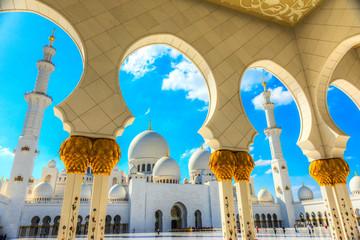 Canvas Prints Abu Dhabi Abu Dhabi Grand Mosque, United Arab Emirates