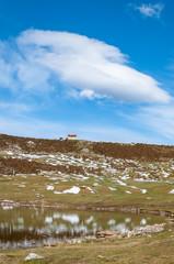 Little mountain house over Ercina Lake