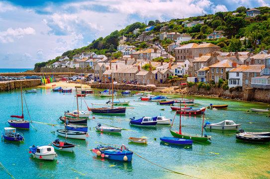 Fishing port of Mousehole village, Cornwall, England