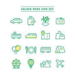 GOLDEN WEEK ICON SET