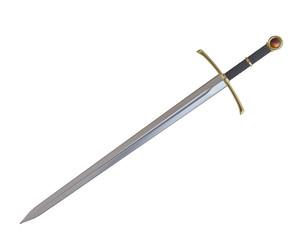 Sword 3D render of Dragon slayer sword