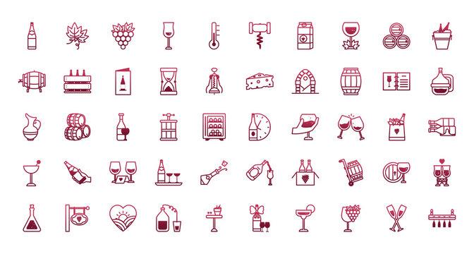 Isolated wine icon set vector design