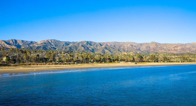 Santa Ynez Mountains Beyond Beach, California