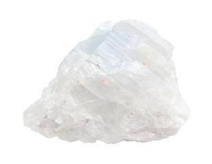crystalline white blue Magnesite rock isolated